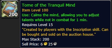 Tome of the Tranquil Mind [Legion]